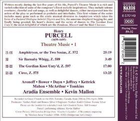 Purcell: Theatre Music Vol 1 - Purcell: Theatre Music Vol 1 (CD)