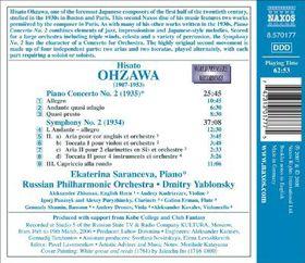 Ohzawa - Piano Concerto No.2 / Symphony No.2 (CD)