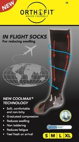 Orthofit Inflight Socks - Black - Small
