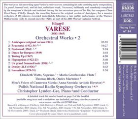 Varese:Orchestral Works 2 Ecuatorial - (Import CD)