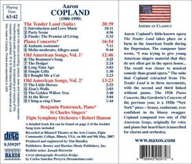 Copland:Piano Cto Tender Land Old Ame - (Import CD)