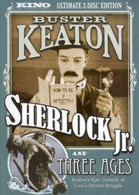 Sherlock Jr/Three Ages - (Region 1 Import DVD)