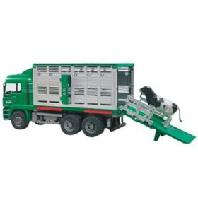 Bruder - Scale 1:16 MAN Cattle Transportation Truck With 1 Cow included