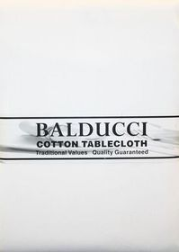 Balducci - Cotton White Round Tablecloth - 6 Seater